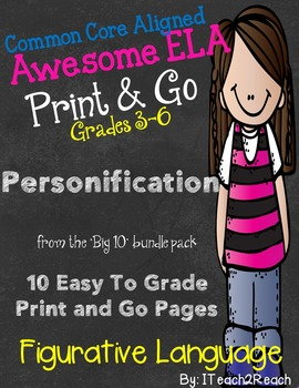 Figurative Language Print and Go Personification