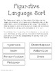 Figurative Language Sort! Review or Assess 7 Types of Figu