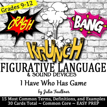Figurative Language & Sound Devices I Have...Who...Has Gam