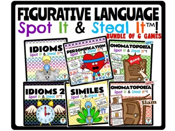Figurative Language Spot It & Steal It Games