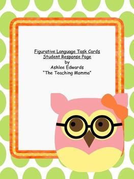 Figurative Language Student Response Page