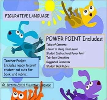 Figurative Language Tab Book Meets Common Core