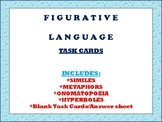 Figurative Language Task Cards (12 pk, blank cards, answer