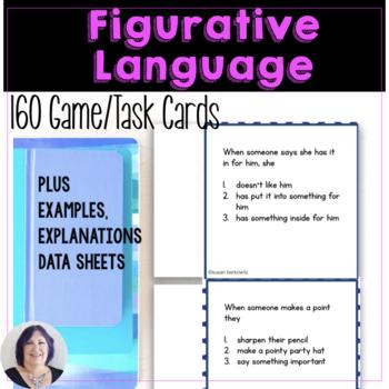 Figurative Language Task Cards for Idioms Similes Metaphors