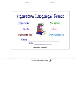 Figurative Language Terms-Flipbook and Study Guide