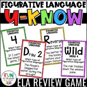 Figurative Language Game: Literacy Centers {Similes, Metap