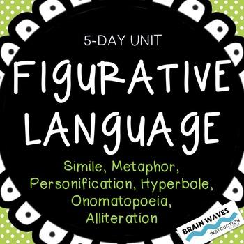 Figurative Language Unit:  Study, Analyze & Write 6 Types