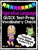 4th & 5th Grade Figurative Language Vocabulary Quiz- GREAT