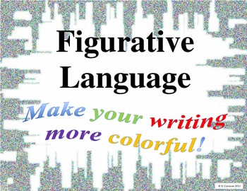 Figurative Language Writing Posters