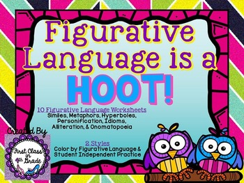 Figurative Language is a Hoot! (Forest Theme Literary Devi
