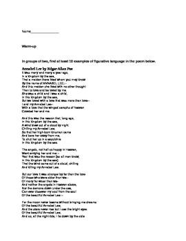 Figurative Language using Poe