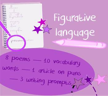 Figurative language in poetry packet - vocabulary list & p