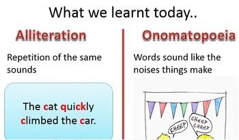 Figures of speech - Alliteration and Onomatopoeia - ESL