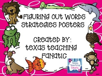 Reading Strategies: Posters & Matching Bookmark