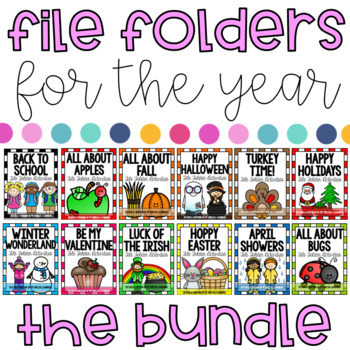 File Folder Activities for the YEAR - BUNDLE pack!
