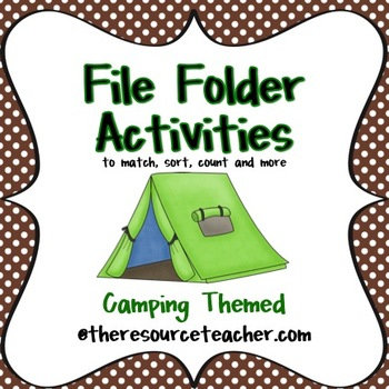 File Folder Activities (Camping Themed)