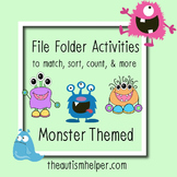 File Folder Activities to Match, Sort, Count, and More! {M