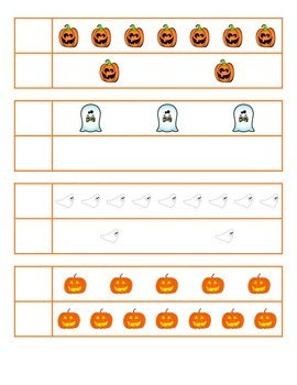 File Folder Activity Greater, Less, or Equal 0-10 (Hallowe