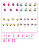 File Folder Activity Number to Quantities 1-10 (Valentine'