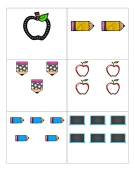 File Folder Activity Numeral to Quantity 1-10 (Back to Sch