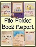 File Folder Book Report For Any Fiction Book.