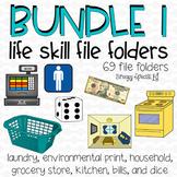 File Folder Bundle 65+ file folders for Life Skills / Spec