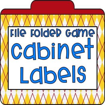 File Folder Cabinet Labels