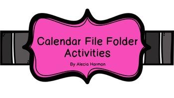 File Folder Calendar Activities