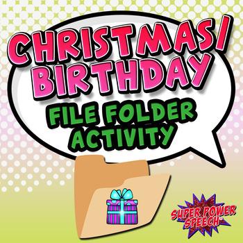 File Folder Categories: Christmas/Birthday (FREE)
