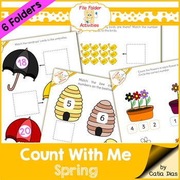 File Folder - Count With Me Activities - Spring