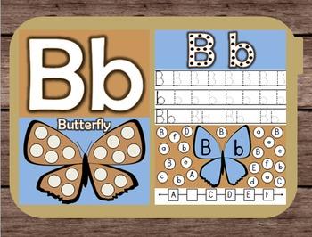 File Folder Game Alphabet Uppercase Lowercase Letter B Pla