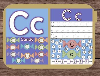 File Folder Game Alphabet Uppercase Lowercase Letter C Pla