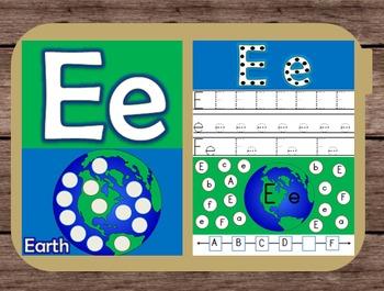 File Folder Game Alphabet Uppercase Lowercase Letter E Pla