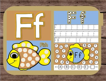 File Folder Game Alphabet Uppercase Lowercase Letter F Pla