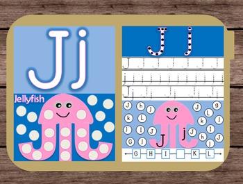 File Folder Game Alphabet Uppercase Lowercase Letter J Pla