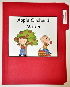 "File Folder Game--""Apple Orchard Match"""