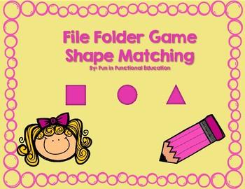 File Folder Game- Basic Shape Matching