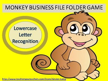 Literacy Center File Folder Game Lowercase Letter Recognit