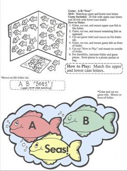 File Folder Games -ABC Matching