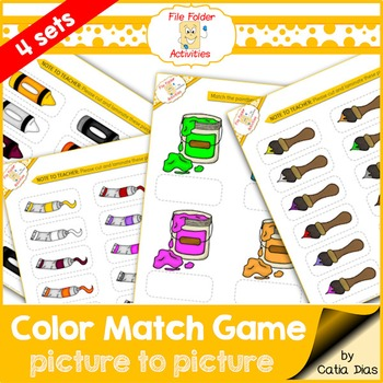File Folder Games - Colors 1
