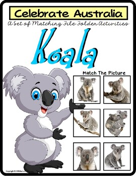 File Folder Games Set KOALA BEAR Matching Skills to CELEBR