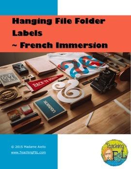File Folder Labels - French Teacher