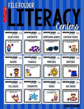 File Folder Literacy Centers- June