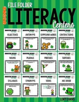 File Folder Literacy Centers- MARCH