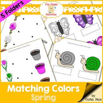 File Folder - Matching Colors - Spring
