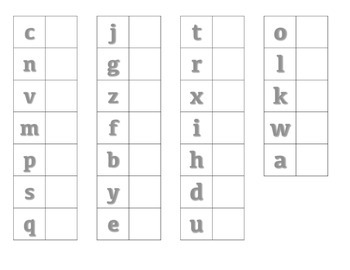 File Folder Matching Lowercase Letters (Gray)