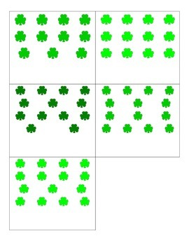 File Folder Matching Numerals to Quantities 11-20 (Shamroc