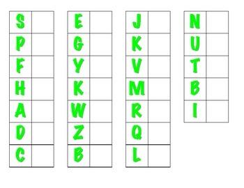 File Folder Matching Uppercase Letters (Light Green)