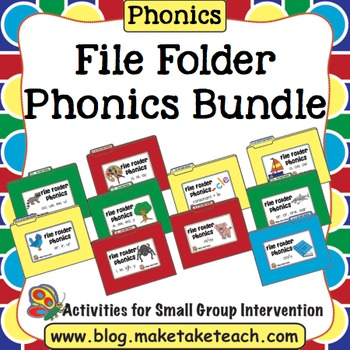 Phonics - File Folder Phonics Bundle