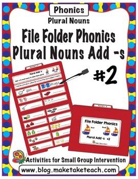 Plurals adding -s #2 - File Folder Phonics
